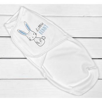Теплая молочная пеленка кокон на липучке Little Bunny 0-3 месяца
