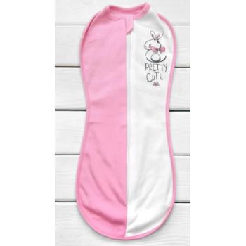 Евро пеленка кокон на молнии для новорожденной девочек 0-3 месяца