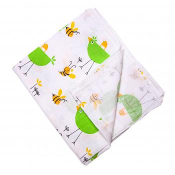 Муслиновая пеленка 75*90 см для новорожденных