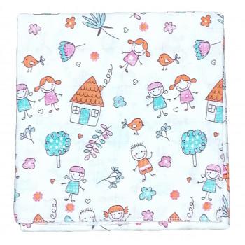 Муслиновые пеленки размером 75*90 см для новорожденных