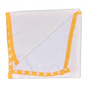 Пеленка 60*80 см непромокаемая молочная с желтым кантиком