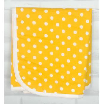 """Непромокаемая пеленка """"Желтая горошинка"""" для новорожденных"""