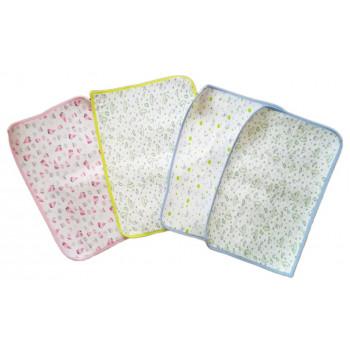 Непромокаемая пеленка для новорожденного (низ-клеенка,верх-хлопок). Размер 50*70 см