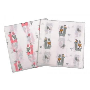 Ситцевая пеленка 90*100 см Птичка для новорожденных девочек