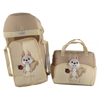 "Люлька переноска + сумка для ребенка ""Rain baby"" Белчонок Кофейный"