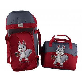 """Красно-синяя люлька переноска + сумка для детей """"Rain baby"""" Белчонок"""