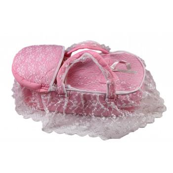 Красивая сумка переноска для новорожденной девочке в роддом