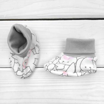 Пинетки Интерлок для новорожденных