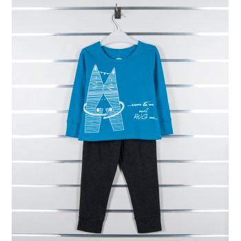 Пижама из кулира для мальчика 3 лет  98 размер