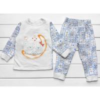 Теплая из футера пижама 86 92 98 110 размеры для мальчиков Мишки