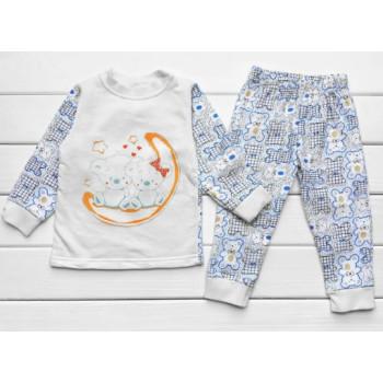 Теплая из футера пижама 110 размеры для мальчиков Мишки