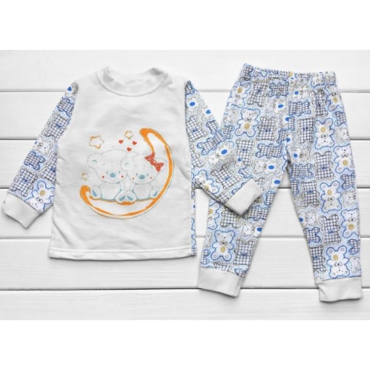 Теплая из футера пижама для мальчиков Мишки
