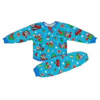 Детская теплая (ткань байка) пижама 92 98 104 размеры на мальчика Brawl the Stars