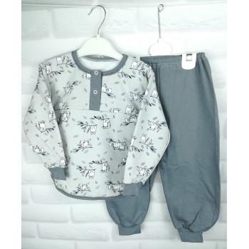 Теплая пижама для детей Размеры 92 104 ткань байка 100% хлопок