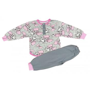 Пижама байковая детская на девочку 92 размер Кошечка