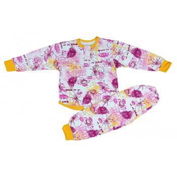 Пижама теплая на девочку 2 годика 92 размер ткань байка