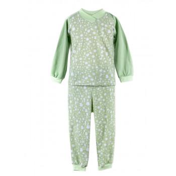 Байковая пижама салатовая 92 размера на ребенка 2-3 года