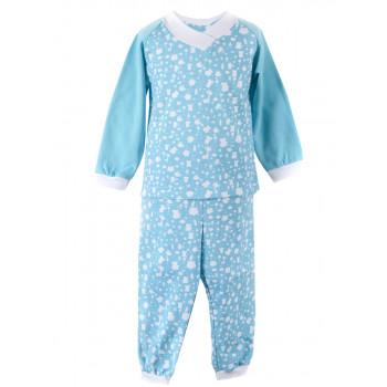 Теплая пижама Байка Голубая 92 размера для мальчика 1.5-2-3 года