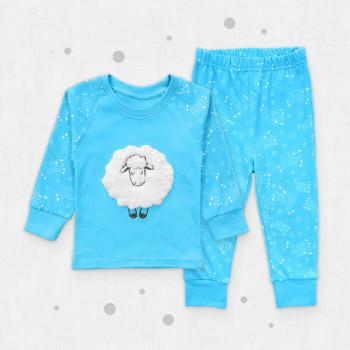 Пижама Сладкий сон Интерлок Голубая для мальчиков