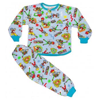 Теплая из байки пижама 98 размера на мальчика Бейблейд