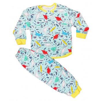 Тонкая из кулира детская пижама 104 размера Дино