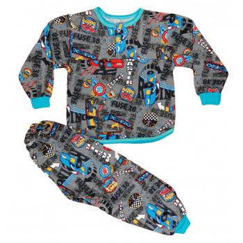 Теплая из байки пижама 98 размера на мальчика Мастер