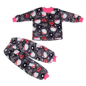 Зимняя пижама велсофт на девочку 2-3-4-5-6-7 лет 92 98 110 122 размеры