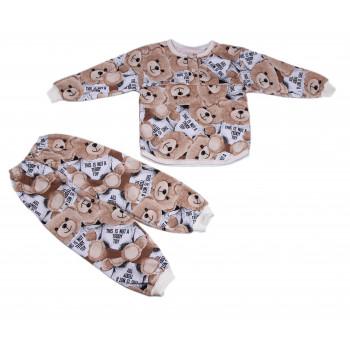 Теплая пижама Teddy начес для детей 2-3-4-5-6-7 лет 92 98 110 122 размеры