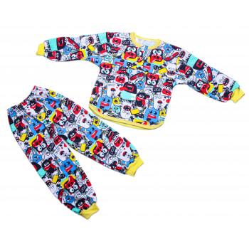 Детская теплая пижама 92 98 122 размеры