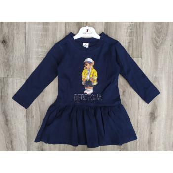 Платье с длинным рукавом на девочку 2 3 года, двунитка