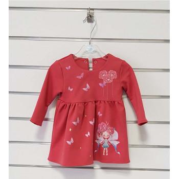 Красное платье с длинными рукавами 80 86 размеры для девочек