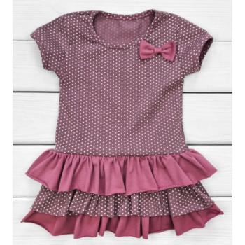 Летнее платье с бантиком 98 110 122 размеры для девочек