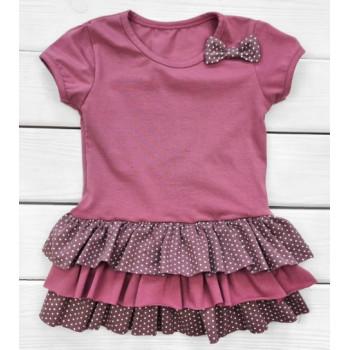 Летнее платье с бантиком  122 размер для девочек