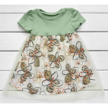 Платье с короткими рукавами Интерлок 86 98 размеры для девочек