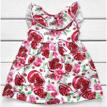 Детское летнее платье с рюшей и завязкой 86  размер