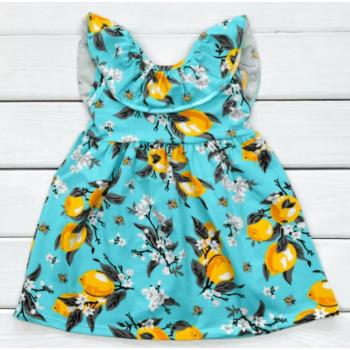 Детское летнее платье Лимон 122 размеры