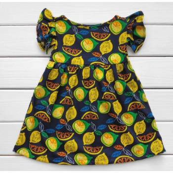 Летнее платье Лимон Кулир 98 122 размеры для девочек