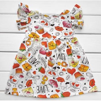 Летнее платье Love Кулир 98 110 размеры для девочек