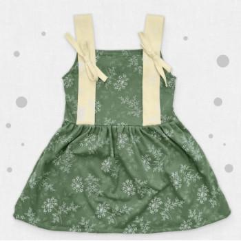 Платье на бретельках Кулир 122 размеры для девочек
