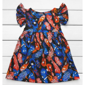 Платье Перышко Лето Кулир 98 122 размеры для девочек