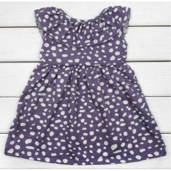 Летнее платье Фиолетовое Кулир 110 122 размеры для девочек