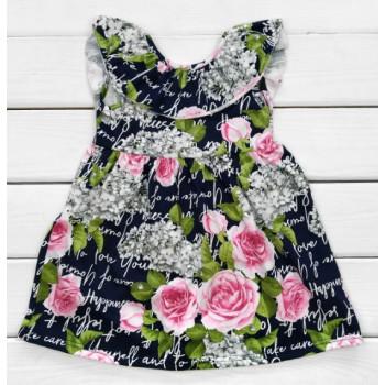 Летнее платье Розы Кулир  98 110 размеры для девочек