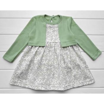 """Платье с болеро """"Веточка"""" Интерлок 86 98 116 размеры для девочек"""