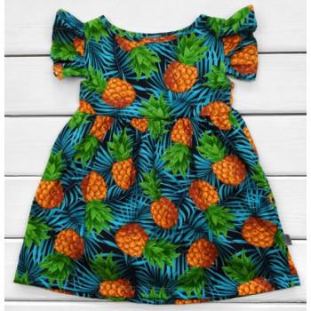 Детское летнее платье Ананасик Кулир 98 110 122 размеры