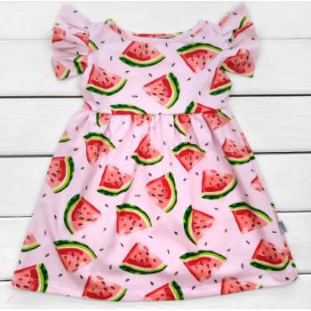 Детское летнее платье Арбузик Кулир Розовое 98 размеры