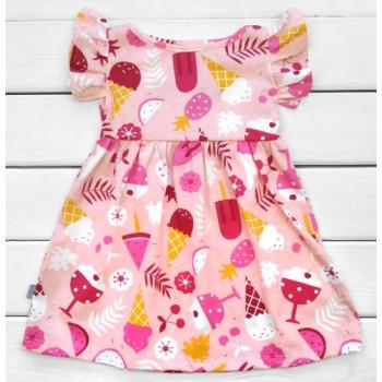 Детское летнее платье Мороженка Кулир 98 110 122 размеры