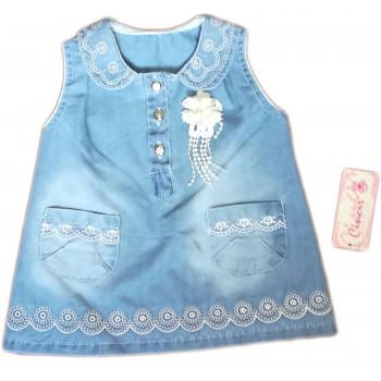 Джинсовое детское платье Размеры 74 80 86