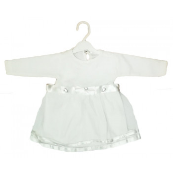 Нарядное платье с длинными рукавами для девочки 9-12 месяцев