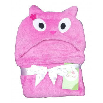 Розовый пледик для девочек 78*102 см Котик