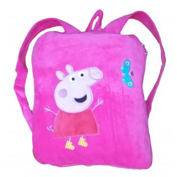 """Детский плед рюкзак """"Свинка Пеппа"""" 110*150 см. материал: велюр и микрофибра"""